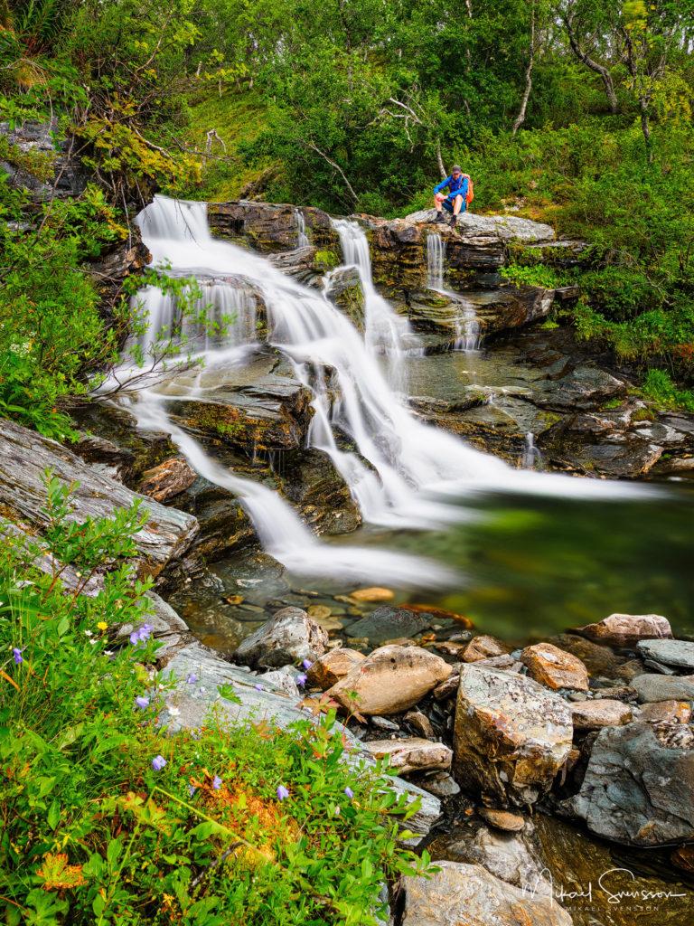 Vattenfall vid Sveån, Härjedalens kommun.