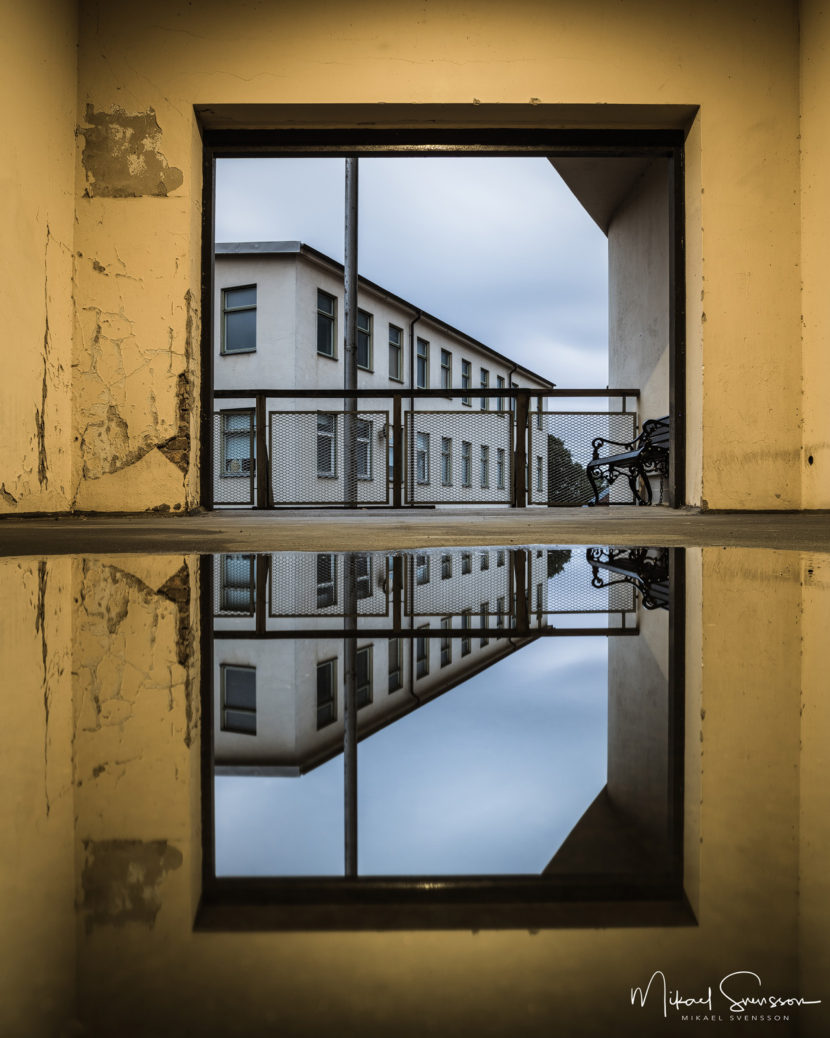 Spegling vid Mölndals Kvarnby
